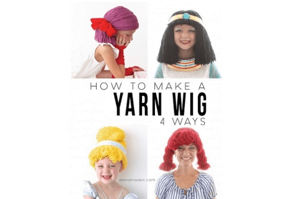 Tutorial: 4 ways to make a yarn wig