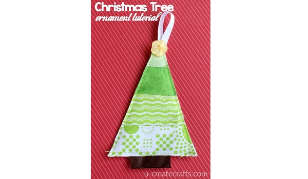 Tutorial: Scrap fabric Christmas tree ornaments