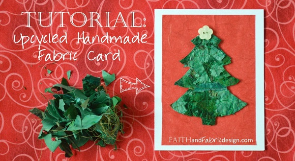 Tutorial: Upcycled fabric Christmas cards from your tiniest scraps