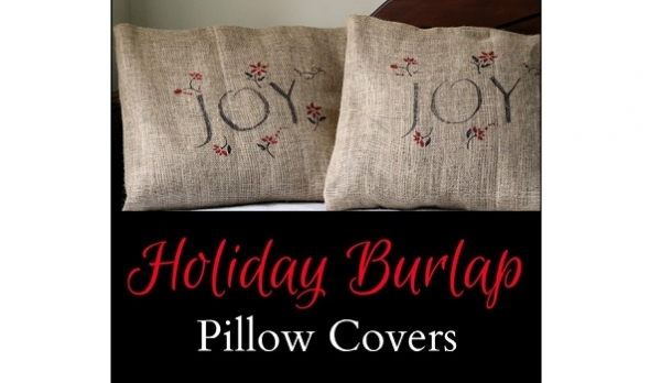Tutorial: Holiday burlap pillow covers