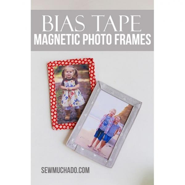 Tutorial: Bias tape magnetic photo frame