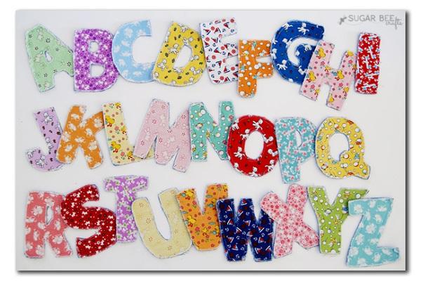 Tutorial: Make a fabric alphabet for little kids