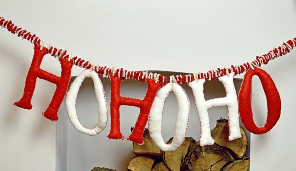 Tutorial: Felt Christmas greeting garland