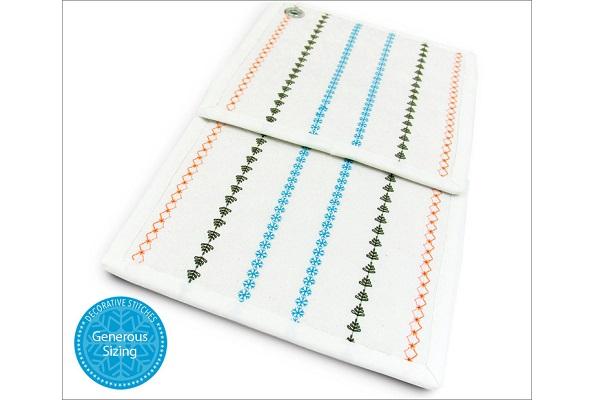 Tutorial: Decorative stitch hot pads