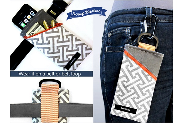 Tutorial: Belt or clip phone case with an angled zip pocket