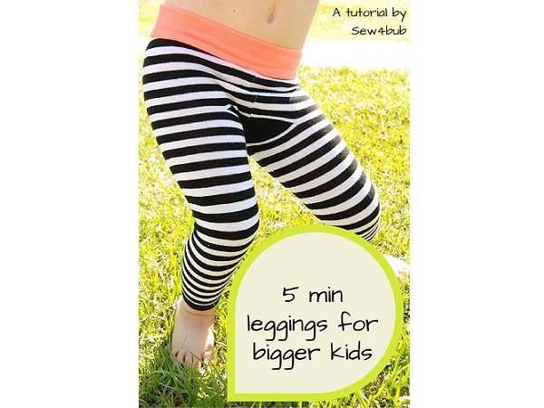 Tutorial: 5-minute little kid leggings made from adult ...