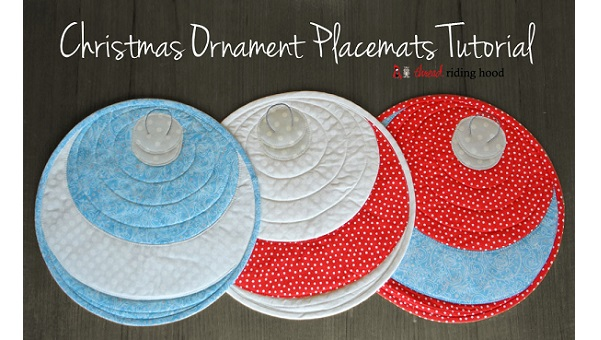 Free pattern: Christmas ornament placemats