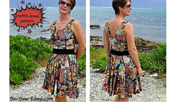 Free pattern: Graffiti Dress
