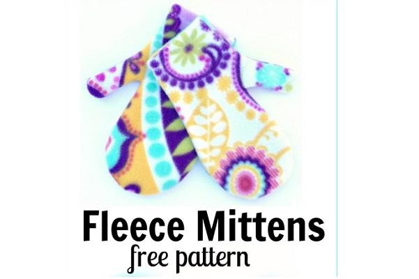 Free Pattern Easy Fleece Mittens Sewing