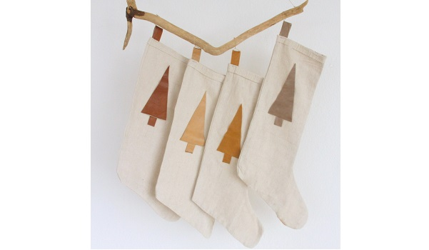 Tutorial: Drop cloth Christmas stockings