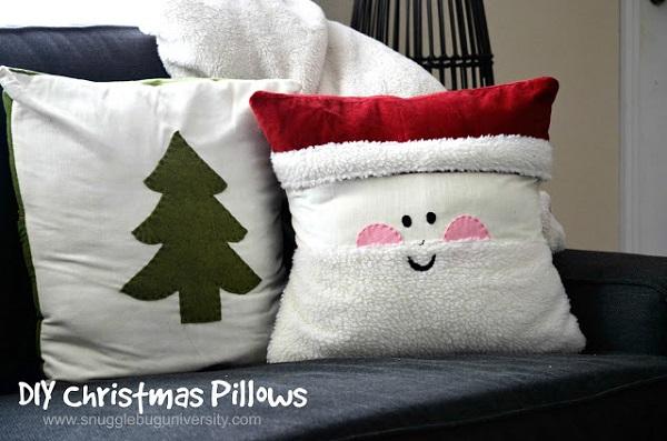 Tutorial Santa Throw Pillow Sewing