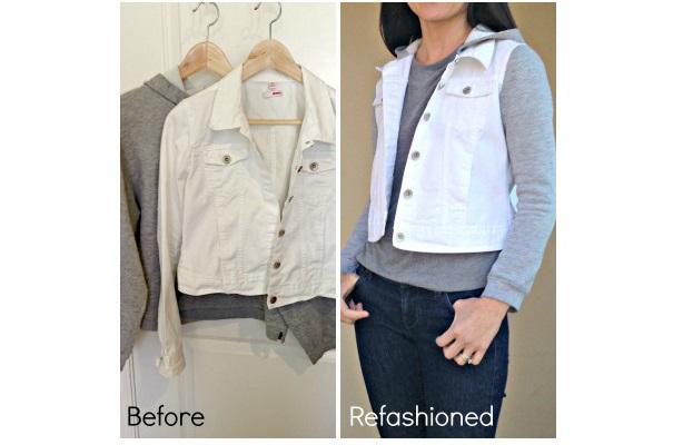 Tutorial: DIY jean jacket hoodie