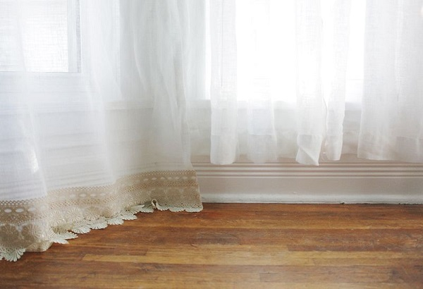 Tutorial: No-sew method for lengthening curtains
