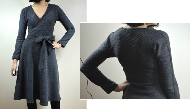 Free pattern: Pauline Dress, a long sleeved wrap dress – Sewing