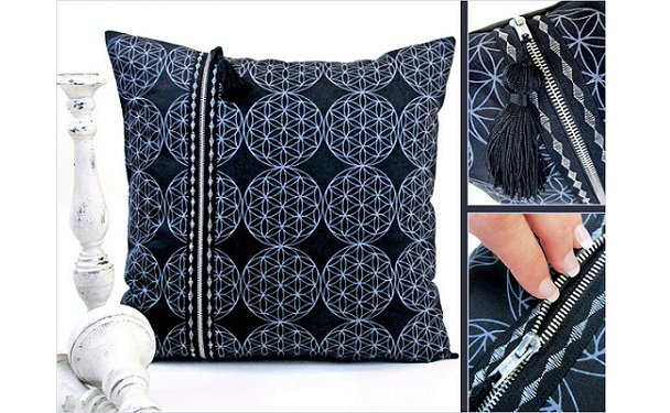 Tutorial: Double zipper pillow