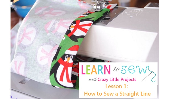 Tutorial: How to sew a straight seam