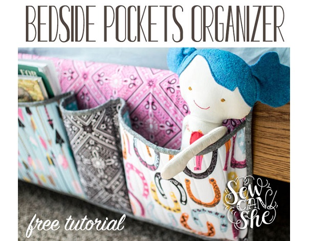 Tutorial: DIY bedside pocket organizer