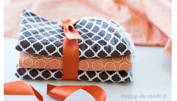 Free pattern: Super absorbent stay-put burp cloths