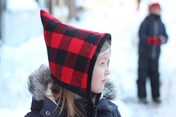 Free Pattern Blizzard Bonnet Pixie Hat For Kids Sewing