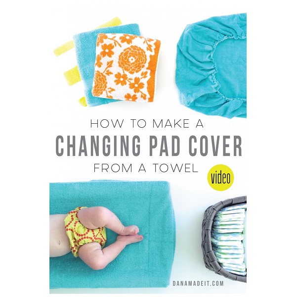 Video tutorial: Make a changing pad cover from a towel