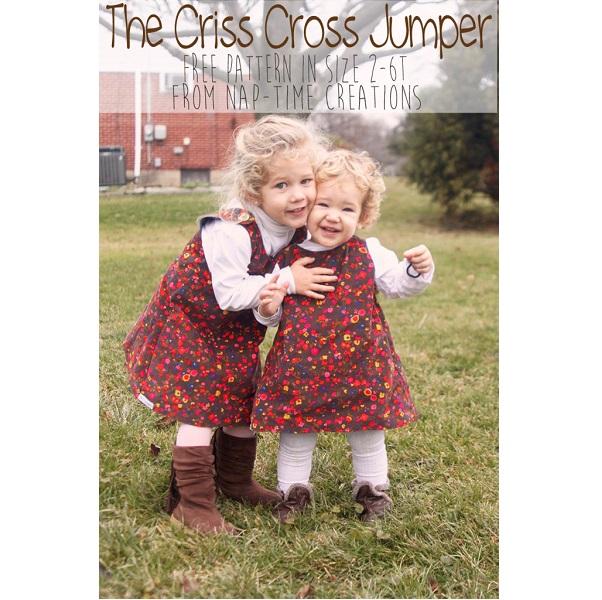 Free pattern: Little girls' criss cross jumper