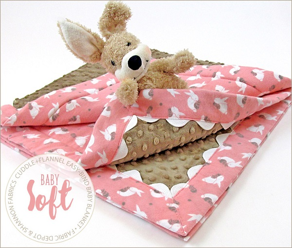 Tutorial Cuddle Fabric And Flannel Baby Blanket Sewing
