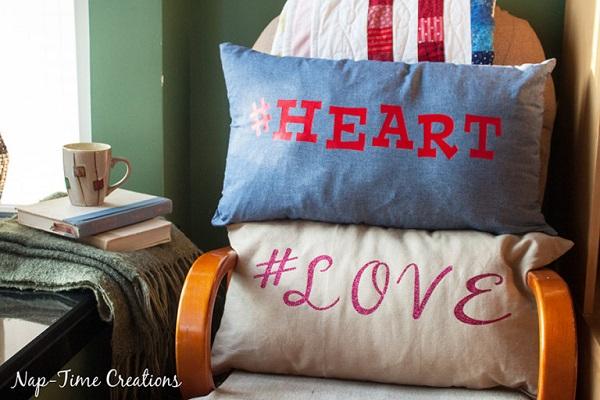 Tutorial: Zipper pillow cover, plus free Valentine cut files