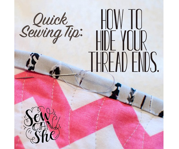 Tutorial: How to hide thread ends when sewing by hand