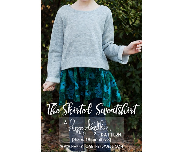 Free pattern: Skirted sweatshirt dress