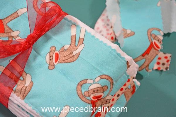 Tutorial: Easy diaper burp cloths