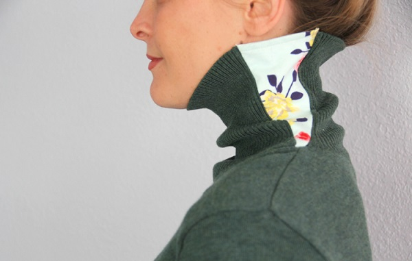 Tutorial: Fix for a too tight turtleneck