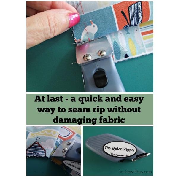 Tutorial: Using an electric seam ripper