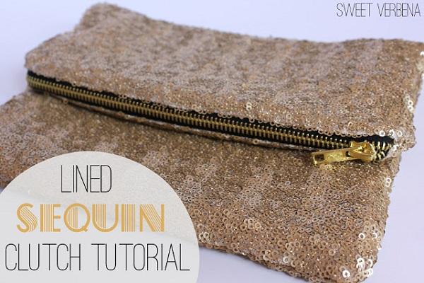 Tutorial: Sequin clutch purse