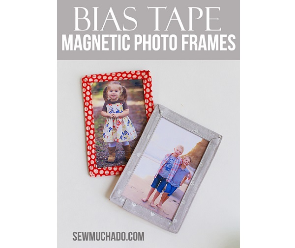 Tutorial: Bias tape magnetic photo frames