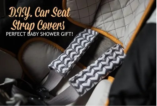 Tutorial Car Seat Strap Covers Sewing