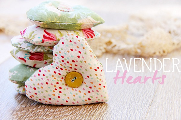 Tutorial: I Heart You lavender sachets