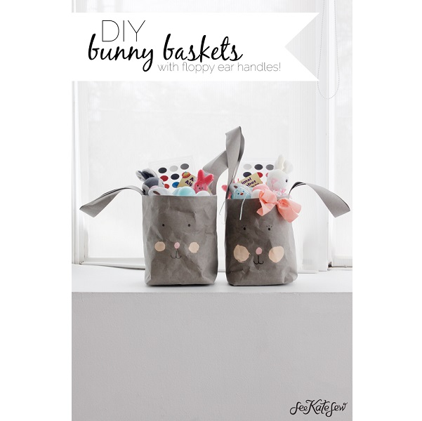 Tutorial: Easter bunny basket bags