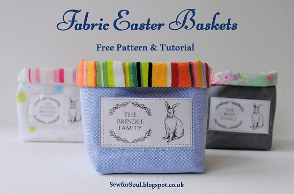 Tutorial: Little fabric baskets