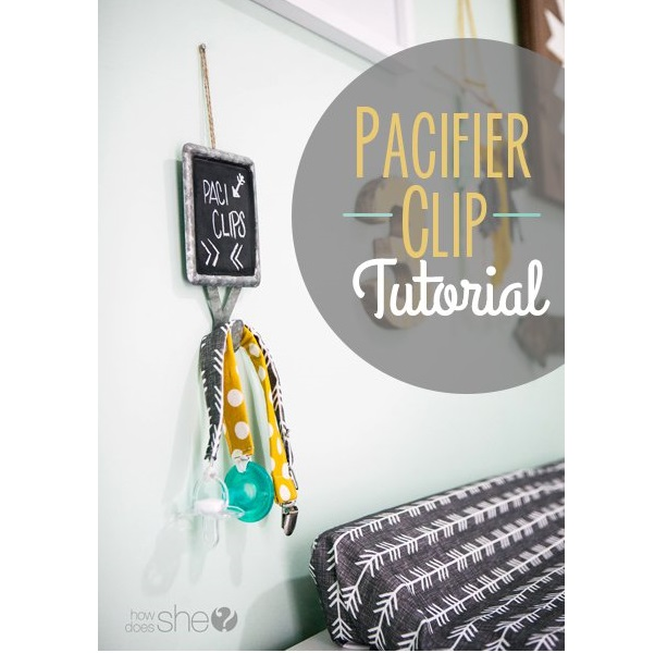 Tutorial: 5-minute pacifier clip