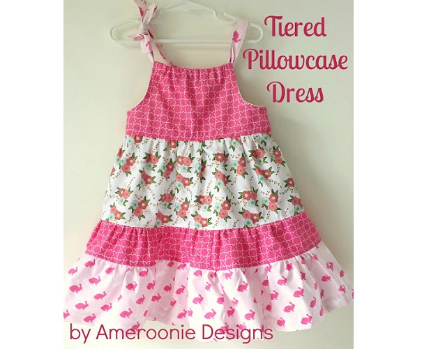 Tutorial: Little girls tiered pillowcase dress