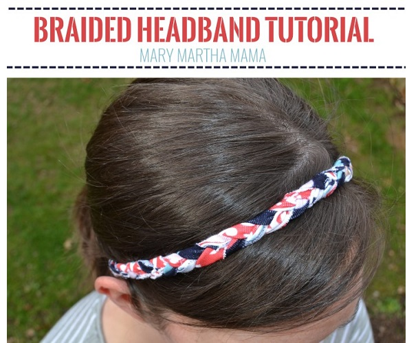 Tutorial: Braided knit fabric headband