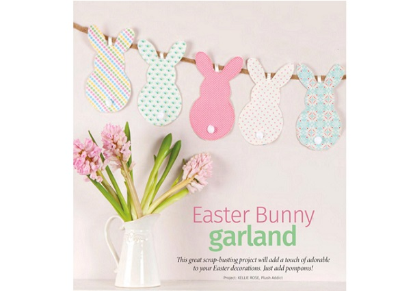 Tutorial: Easter bunny garland with pom pom tails