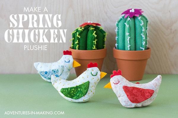 Free pattern: Little spring chicken softies
