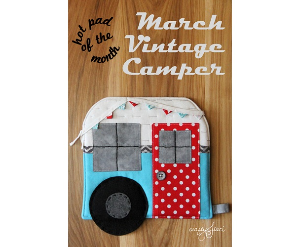 Free pattern: Vintage camper hot pad