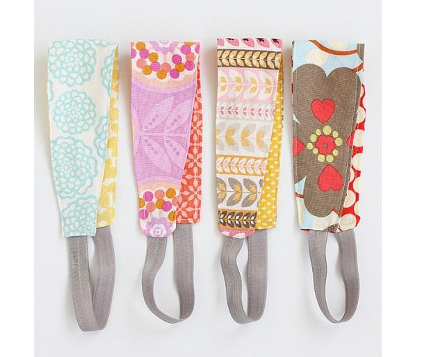Free pattern: Reversible fabric headband in women and girls sizes