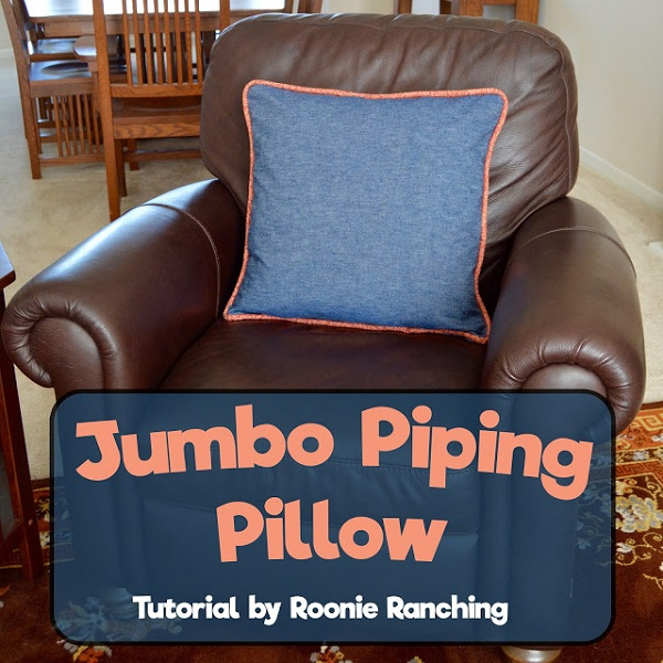 How To Make A Decorative Pillow With Piping : Tutorial: Jumbo piping throw pillow ? Sewing