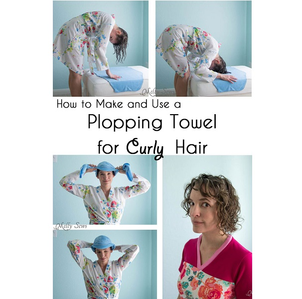 Tutorial: No-sew plopping towel for frizz-free curly hair