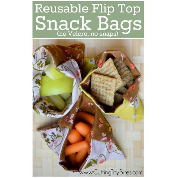 Tutorial: Reusable flip top fabric snack bags