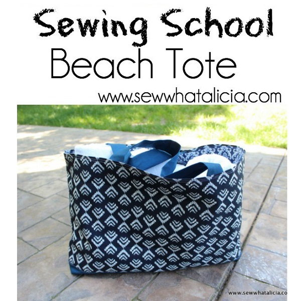 Tutorial: Simple beach tote