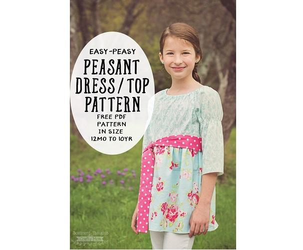 Free pattern: Girls Easy Peasy Peasant Dress